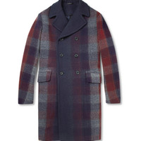 Jil Sander Degradé Plaid Wool-Blend Coat | MR PORTER