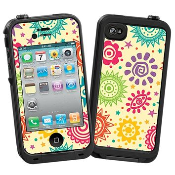 Tribal Sun Pattern Skin for the iPhone 4/4S Lifeproof Case by skinzy.com