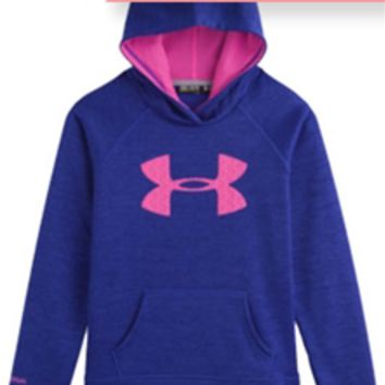 Under Armour Twist Big Logo Storm Hoodie for Girls 7-16 1250403-501
