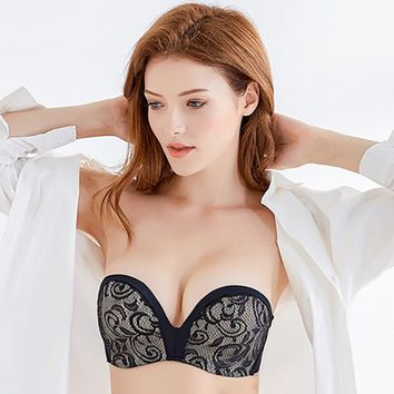 2c74ab296b Sexy Lace Invisible Strapless Bra Push Up Backless Lingerie 1 2C