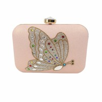 Wallets leather handbags clutch bag rhinestone dinner bride handbag