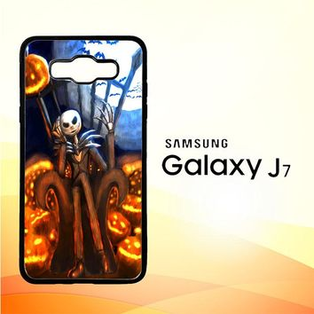 Nightmare Before Christmas Jack Skellington V1947 Samsung Galaxy J7 Edition 2015 SM-J700 Case