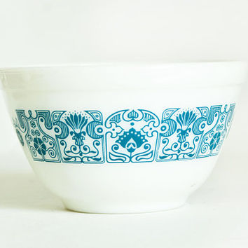 Vintage Pyrex Horizon Blue Mixing Bowl, Turquoise Prep Bowl 401, 1 1/2 Pint, 750 ml, Made in USA