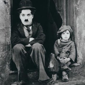 CHARLIE CHAPLIN POSTER - THE KID FAMOUS SHOT - 24X36