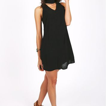 Seeking Shade Mock Neck Dress