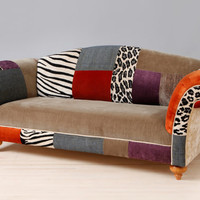Colorful patchwork sofa