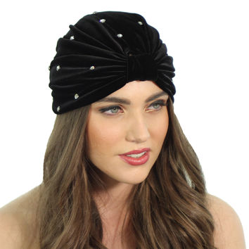 CRYSTAL STUDDED FULL TURBAN