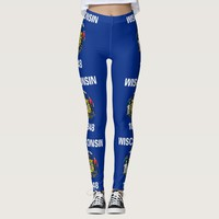 Leggings with flag of Wisconsin State, USA