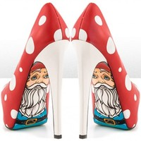 """Gnomies"" Heels by Taylorsays (Red)"