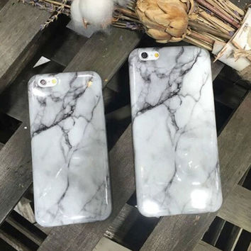 Unique White Marble Stone Mobile Phone Case For iphone 5 5s SE 6 6s 6 plus 6s plus + Nice gift box 072301