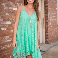 Texture So Beautiful Dress, Mint