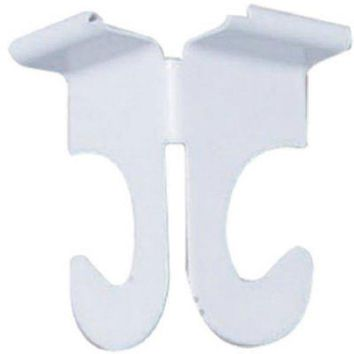 Panacea™ 86302 Decorative Ceiling Track Hook, White, 2-Pack
