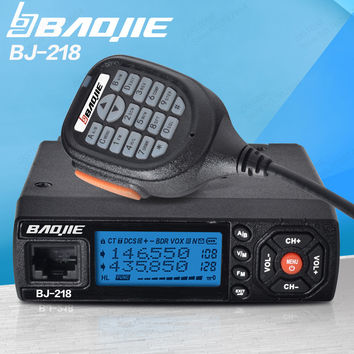 Baojie BJ-218 25W Output Power Mini Mobile Radio VHF UHF 136-174 400-470MHz Ham CB Radio Car Walkie Talkie For Car Bus Taxi