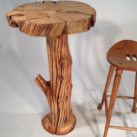 "Ancient Bristlecone Pine ""Bar Branches"" Table Rustic Log"