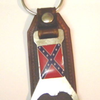Confederate Bottle Opener Key Ring - Slight Defects - Price Reduced