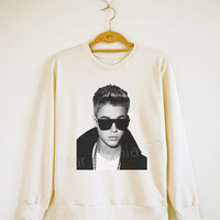 Justin Bieber TShirt Pop Rock Sweater Sweatshirt Jumpers Tee Shirt Long Sleeve TShirt Tee Women Shirt Tee Unisex Shirt Size S,M,L