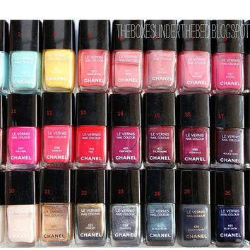 LE VERNIS chanel nail polish dior iphone 5/4/4 s case - 27 color nail polish