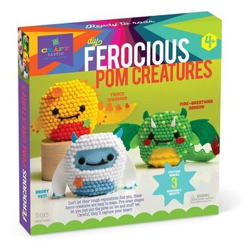 Craft-tastic Ferocious Pom Animals Kit