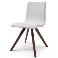 Olga Dining Chair White Eco Leather (Set of 2)