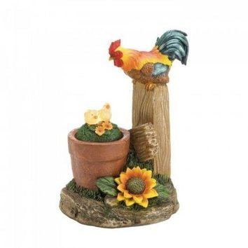 Solar Rotating Rooster Garden Decor (pack of 1 EA)
