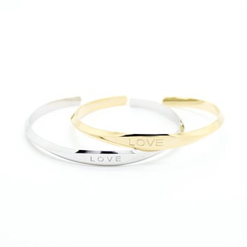 LOVE bar bangle bracelet