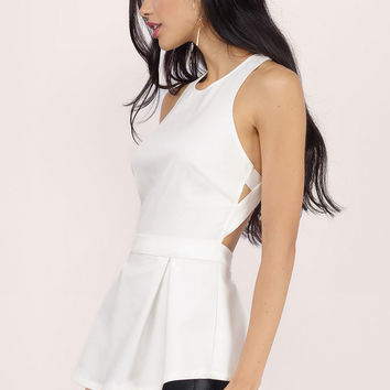 Open Ended Peplum Top $44