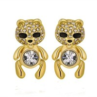 MLOVES Classical Delicate Cute Little Diamante Bear Ear Cuffs