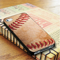 Old Classic Baseball Ball Skin iPhone 4 Or 4S Case