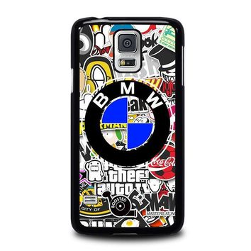 bmw sticker bomb samsung galaxy s5 case cover  number 1