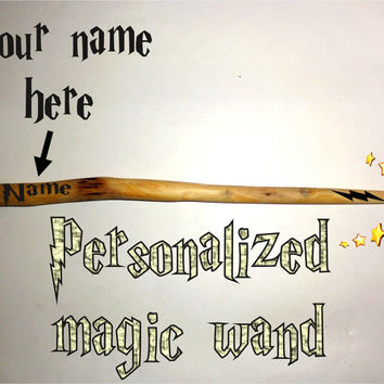 Magic Wand Personalised. Custom magic wand. Name personalized magic wand. Harry Potter wand. Hermione Magic Wand. Natural fairy wizard wand.