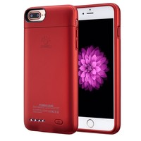 "iPhone 7 plus / 6 plus / 6S plus Battery Case, Ultra Thin Extended Rechargeable iPhone 7plus / 6 plus / 6S plus Case Battery with 4200mAh Capacity from SUNWELL (5.5"" Red)"