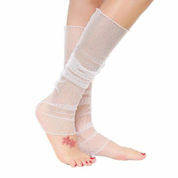 Hollow Out Mesh Socks Women's Fashion Summer Anti-UV Lace Gloves Or Leg Socks fishnet