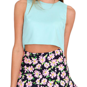 Honesty Crop Top - Blue