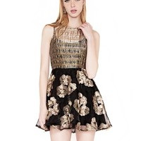 Cute black organza dress - organza party dress -$71