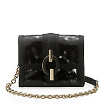 DVF Sutra Micro Mini Tortoise PVC Crossbody Bag