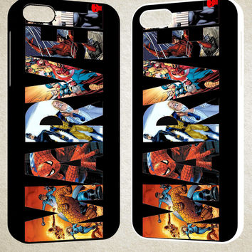Marvel heroes F0011 iPhone 4S 5S 5C 6 6Plus, iPod 4 5, LG G2 G3, Sony Z2 Case
