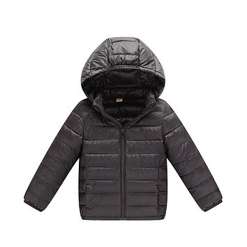 2017 Ultra Light Boys Down Jacket for Girls White Down Parkas 90% Down Winter Warm Children Coat Big Boys Girls Clothes