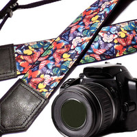 Butterfly camera strap. DSLR Camera Strap. Camera accessories. Camera strap for Nikon, Canon, Fuji, Sony and other cameras.