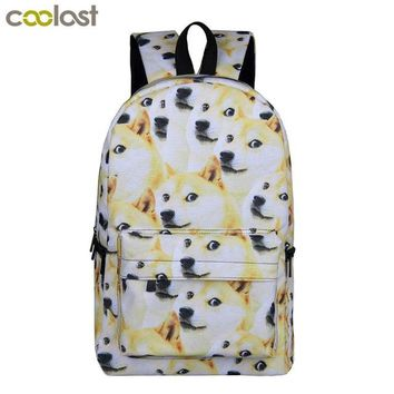 Cool Backpack school Cool Dog Shiba Inu Backpacks for Teenagers Girls Boys School Bags Young Women Men Travel Bag Unicorn Children School Backpack AT_52_3