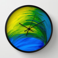 Feathers Wall Clock by Sierra Christy Art