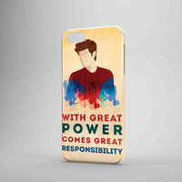 Spiderman Quote Great Power Responsibility iPhone Case Samsung Galaxy Case 3D