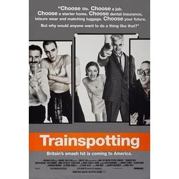 Trainspotting Movie poster Metal Sign Wall Art 8in x 12in