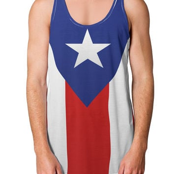 Puerto Rico Flag AOP Loose Tank Top Dual Sided All Over Print