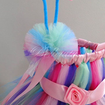 Butterfly tutu dress– butterfly costume– girl tutu dress– baby tutu dress– costume– halloween– rainbow tutu– party tutu– headband– wings
