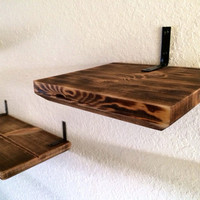 Upgrade a shelf w/ a wood burned finish