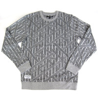 Quiet Life: Rope Crewneck Sweater - Heather Grey