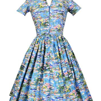 Drive-in Dress in Monet Print