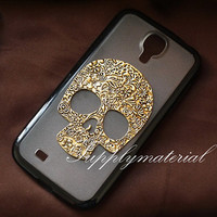 Fashion Retro Skull  Black TPU Soft Phone case For Galaxy S3/S4 / S5 / Note2  / Note3 / Note4 phone cover