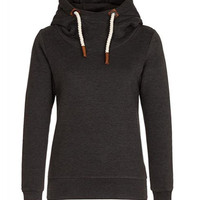 Casual Style Hooded Long Sleeve Pure Color Pullover Hoodie