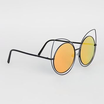 Wire Frame Cat Eye Glasses : Shop Wire Sunglasses on Wanelo